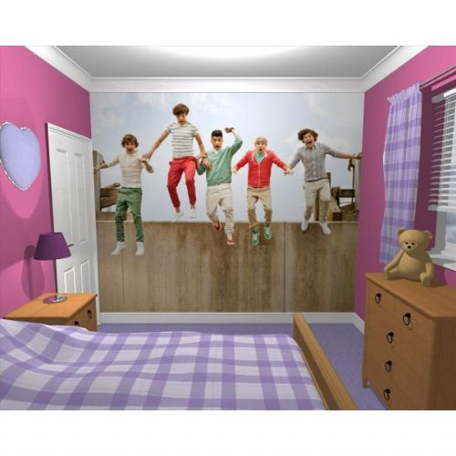 GIANT WALLPAPER WALL MURAL 1D ONE DIRECTION MUSIC STYLISH BEDROOM THEMED DESIGN